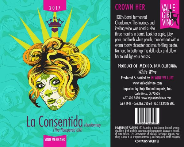 2017 La Consentida (The Pampered Girl) Chardonnay - Valle Girl Vino